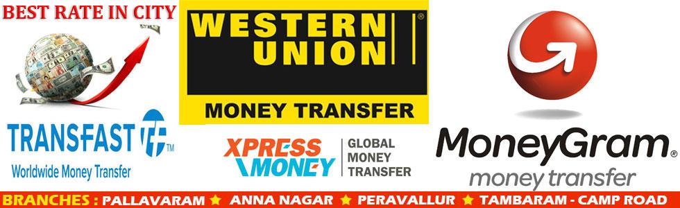 western union money transfer rate